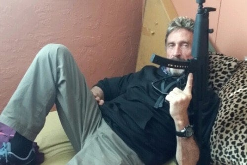 A picture of John McAfee
