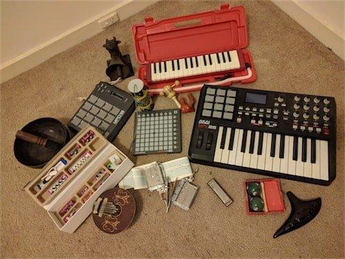 Maize's MIDI keyboards.