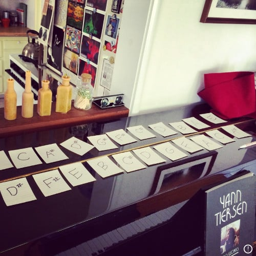 A photo of Rich's piano.